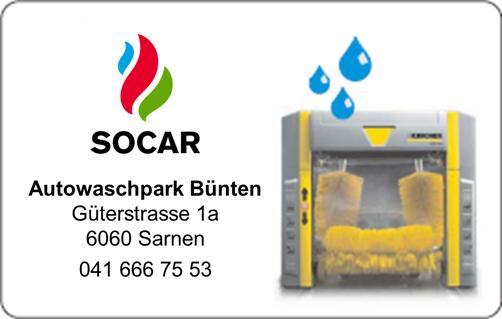 SOCAR Waschkarte